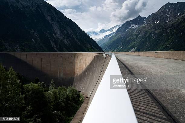 Austria, Tirol, Zillertal, Schlegeis dam wall
