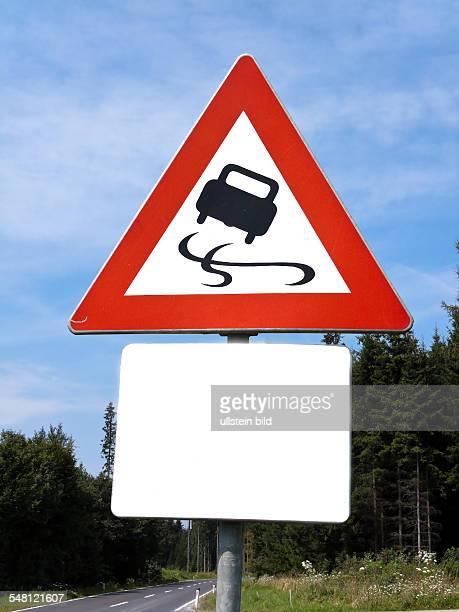 Austria - traffic sign slip danger