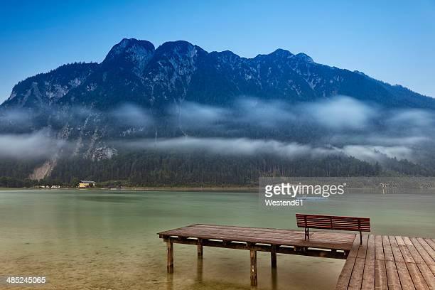 Austria, Tyrol, Achenkirch, jetty at Lake Achensee