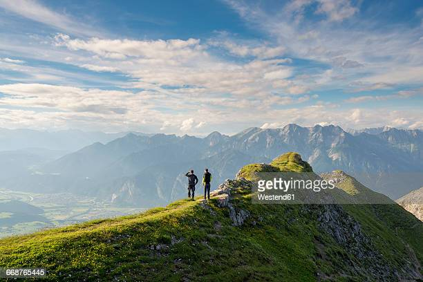 Austria, Tyrol, hiker looking to valley