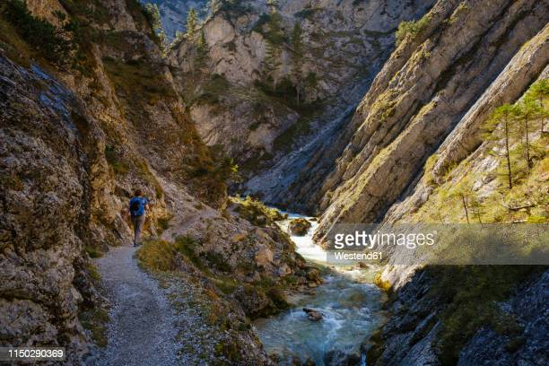 austria, tyrol, karwendel mountains, gleirschklamm, gleirschbach - karwendel mountains stock pictures, royalty-free photos & images