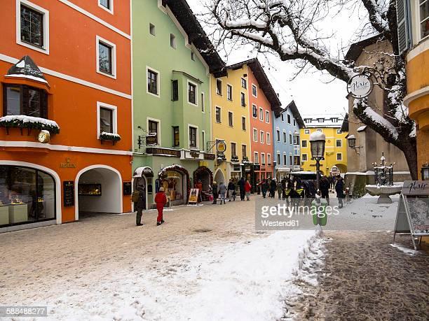 austria, tyrol, kitzbuehel, alpine resort - kitzbühel stock pictures, royalty-free photos & images