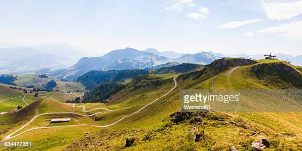 austria, tyrol, kitzbuehel, landscape at kitzbuehel horn - kitzbühel stock pictures, royalty-free photos & images