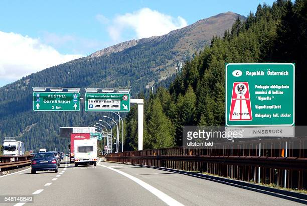 Austria Tyrol - Motorway at the Brenner Pass