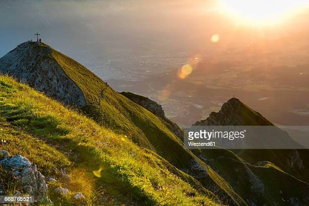 Austria, Tyrol, Nockspitze at sunrise