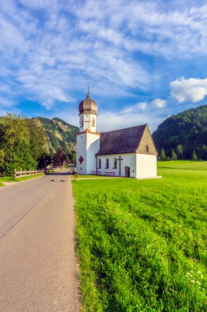 Austria, Tyrol, Small countryside church in Tannheimer Tal