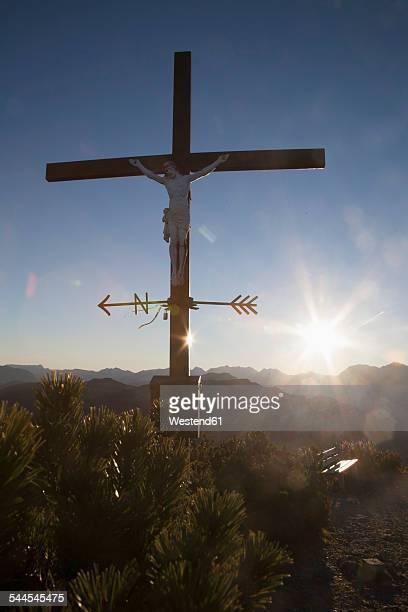 Austria, Tyrol, Unterberghorn, summit cross