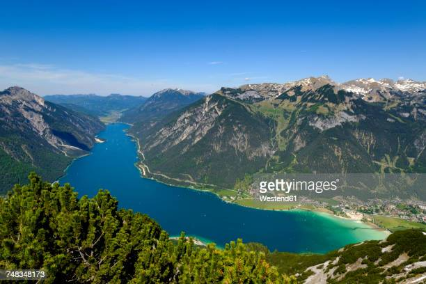 Austria, Tyrol, view to Achensee with Rofan and Pertisau in the background