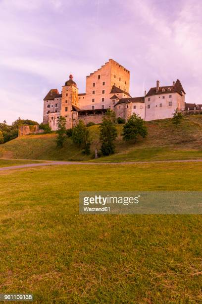 Austria, Upper Austria, Muehlviertel, Burg Clam in the evening