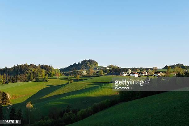 Austria, Upper Austria, Muehlviertel, Gassen, View of landscape
