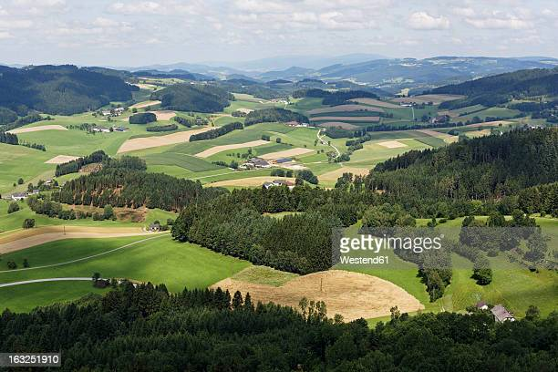 austria, upper austria, view of landscape from waxenberg - upper austria stock pictures, royalty-free photos & images