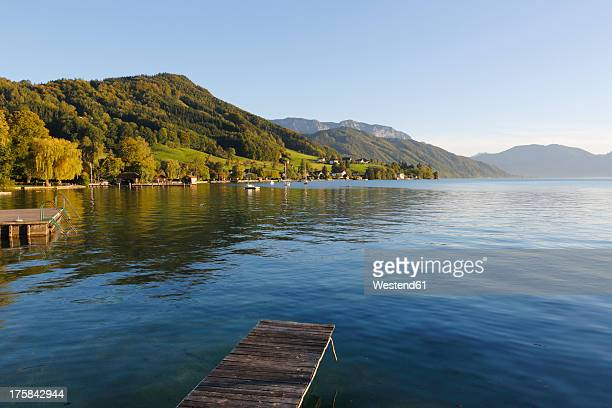Austria, Upper Austria, Weyregg, View of Lake Attersee