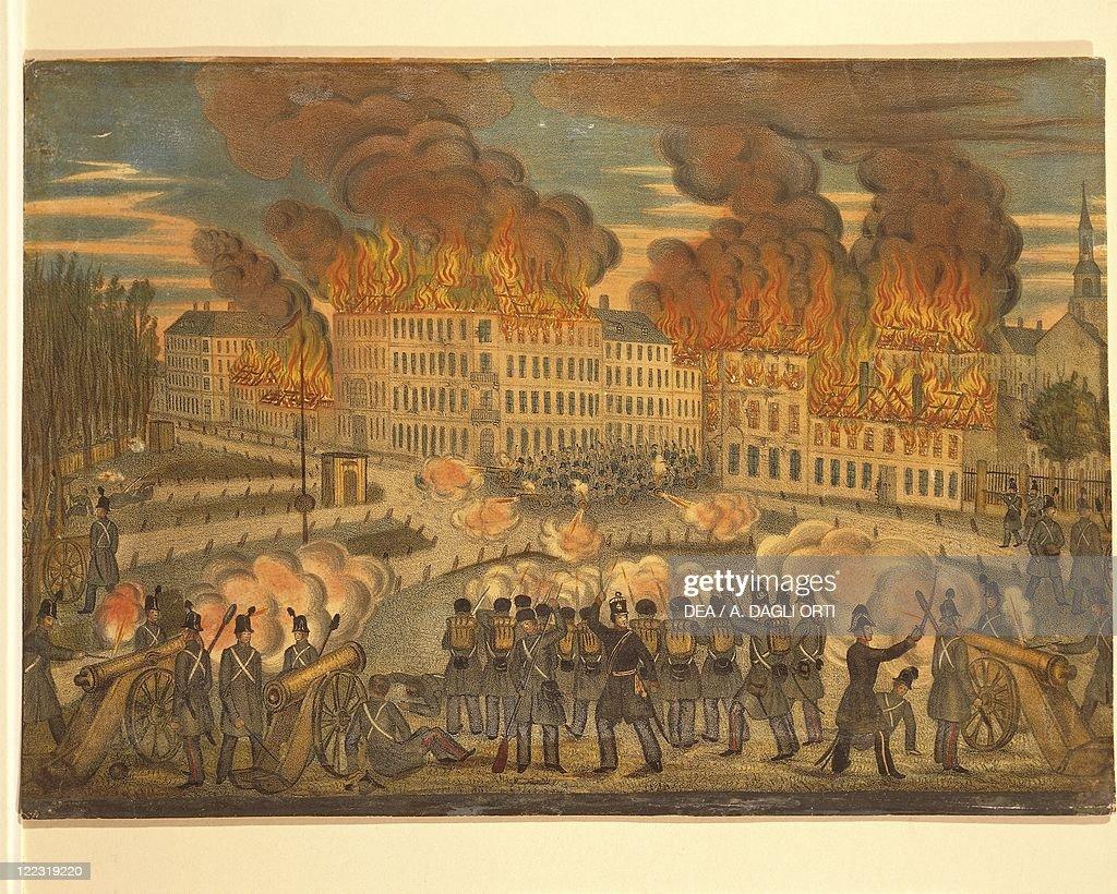 Austria, Vienna, Fire of October 28, 1848 : News Photo