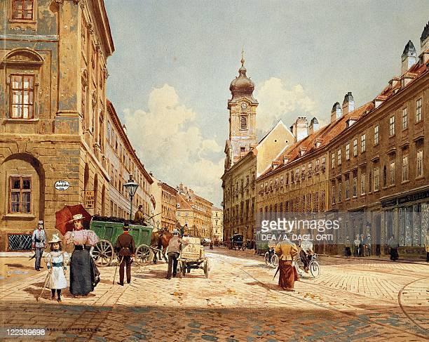 Austria - Vienna - 20th century. Landstrasse-Hauptstrasse in the last Nineteenth Century.