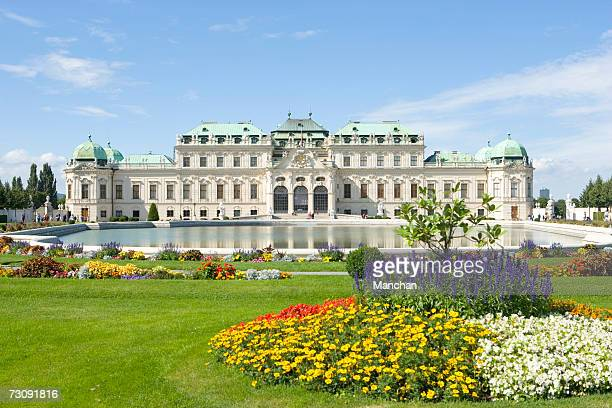 austria, vienna, belvedere palace and gardens - vienna austria stock pictures, royalty-free photos & images