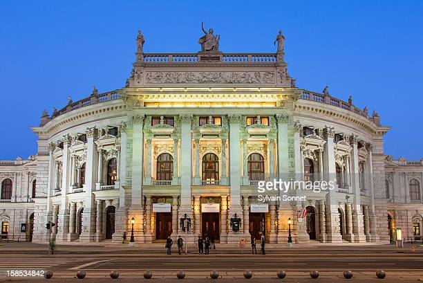 Austria, Vienna, Burgtheater at dusk