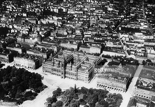 Austria Vienna City Hall aerial view 1930