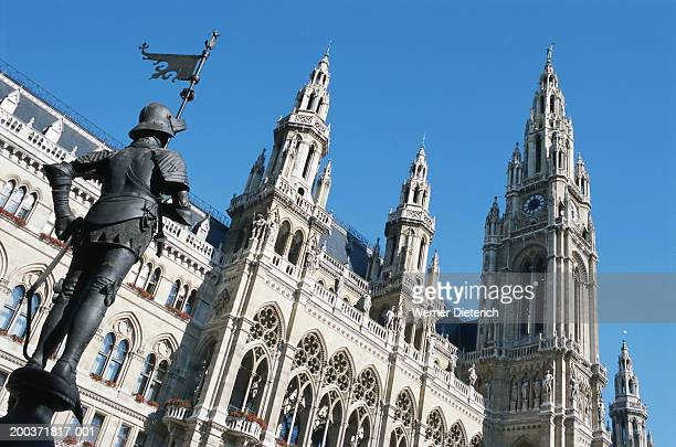 Austria, Vienna, City Hall, low angle view