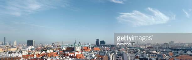 austria, vienna, cityscape, panorama - panoramic stock-fotos und bilder