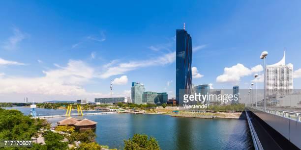 Austria, Vienna, Donau City with Donauturm and DC Tower 1