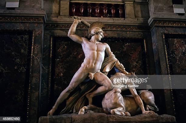 Austria Vienna Kunsthistorisches Museum Statue Of Theseus And The Minotaur