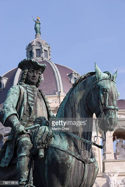 Austria, Vienna, monument in front of  Kunsthistorisches Museum, close-up, low angle view