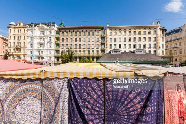 Austria, Vienna, Naschmarkt, cloth market, Wienzeilen houses