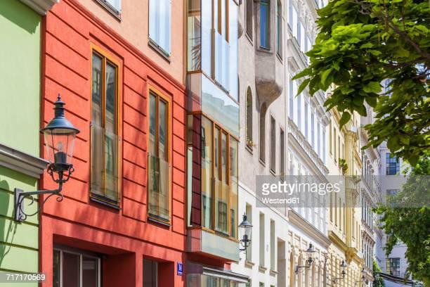 Austria, Vienna, Spittelberg, refurbished Biedermeier houses
