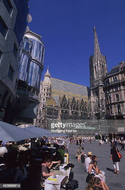 Austria Vienna St Stephen's Square Haashaus St Stephen's Cathedral In Background