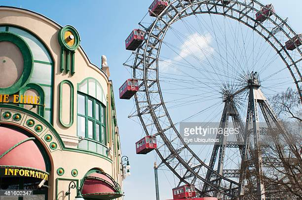 Austria Vienna The Wiener Riesenred or Giant Wheel is one of the oldest Ferris wheels in the world erected in 1897 to celebrate the Golden Jubilee of...