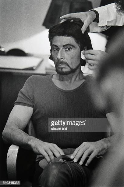 Austria Vienna theatre Burgtheater actor Rolf Boysen in the mask getting dressed for Don Carlos