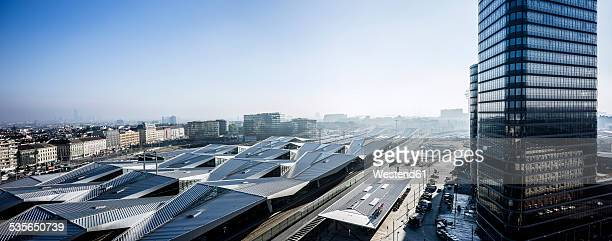 Austria, Vienna, view to main station and headquarter of Austrian Federal Railways