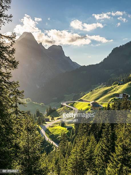 Austria, Vorarlberg, Hochtannberg Mountain Pass