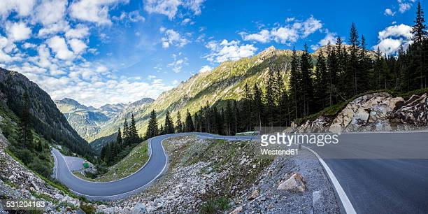 austria, vorarlberg, montafon, alps, silvretta high alpine road - mountain pass stock pictures, royalty-free photos & images