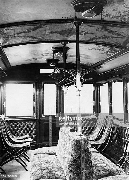 AustriaHungary observation car of the kuk Staatsbahn the national railway company for the Salzkammergut the interior 1901Vintage property of ullstein...