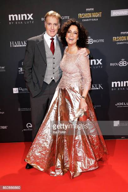 Austrian actor Albert Fortell and his wife Austrian actress Barbara Wussow during the Minx Fashion Night in favour of 'Sauti Kuu' of Auma Obama at...