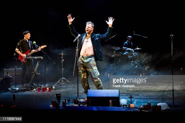 Austrian actor and singer Philipp Hochmair performs live on stage during a concert at the Berliner Ensemble on December 21, 2016 in Berlin, Germany.