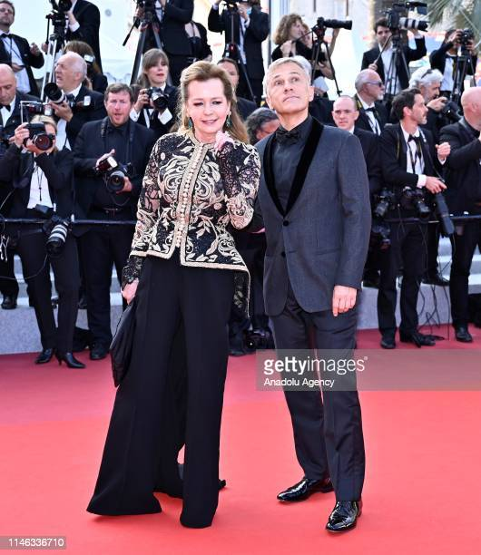 Austrian actor Christoph Waltz and Caroline Scheufele arrive for the Closing Awards Ceremony of the 72nd annual Cannes Film Festival in Cannes France...