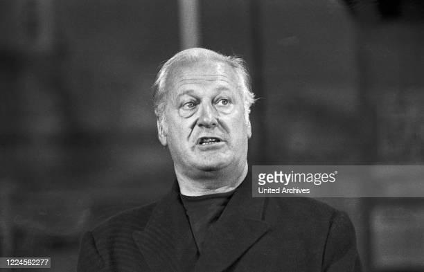 Austrian actor Curd Juergens in the TV show 'Der goldene Schuss', Germany late 1960s.