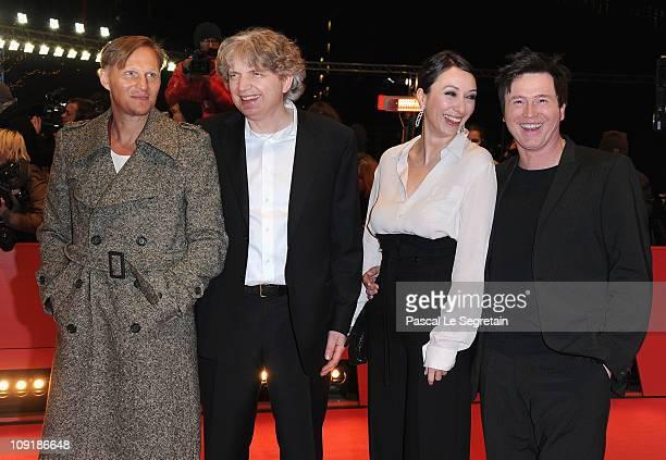 Austrian actor Georg Friedrich German director Wolfgang Murnberger German actress Ursula Strauss and German actor Uwe Bohm attend the 'Mein Bester...