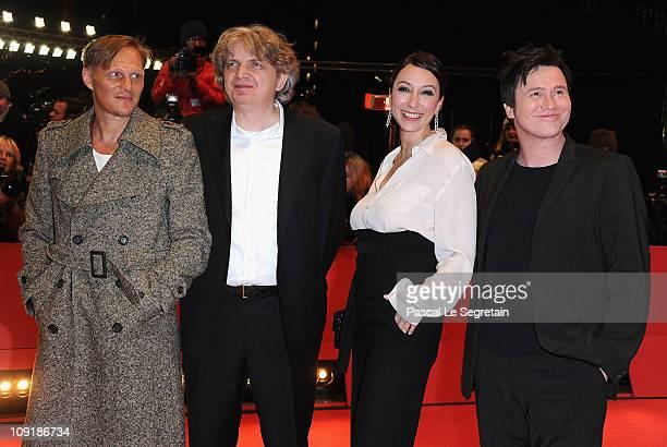 Austrian actor Georg Friedrich, German director Wolfgang Murnberger, German actress Ursula Strauss and German actor Uwe Bohm attend the 'Mein Bester...