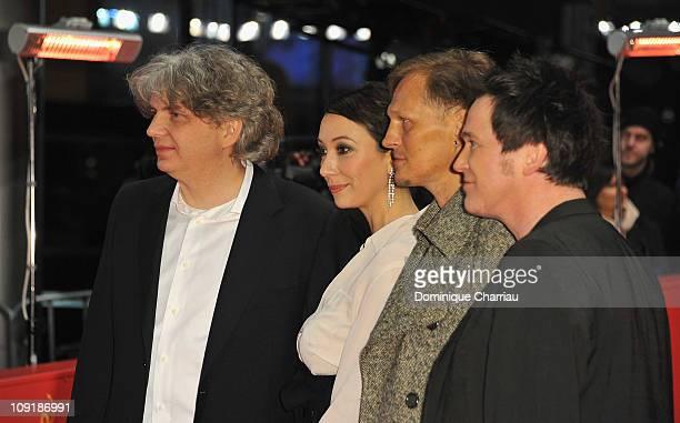 Austrian actor Georg Friedrich, German director Wolfgang Murnberger , German actress Ursula Strauss and German actor Uwe Bohm attend the 'Mein Bester...