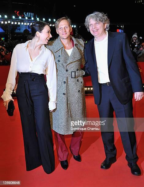 Austrian actor Georg Friedrich, German director Wolfgang Murnberger and Austrian actress Ursula Strauss attend the 'Mein Bester Feind' Premiere...