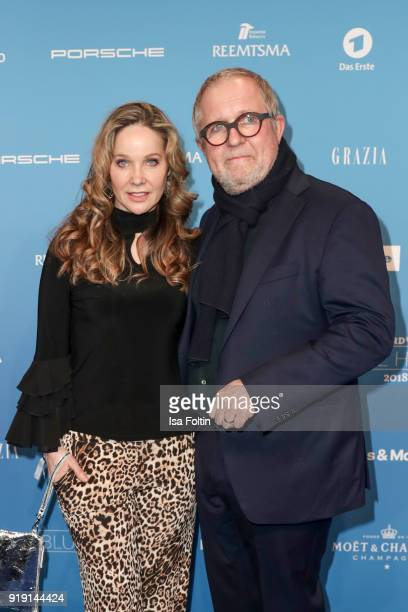 Austrian actor Harald Krassnitzer and his wife German actress AnnKathrin Kramer attend the Blue Hour Reception hosted by ARD during the 68th...