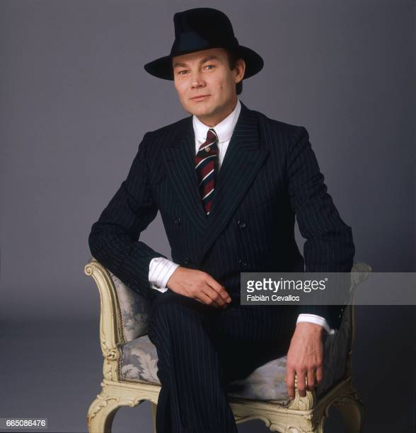 Austrian actor Klaus Maria Brandauer poses for a portrait during the shooting of the 1988 movie Burning Secret or Brennendes Geheimnis in German...