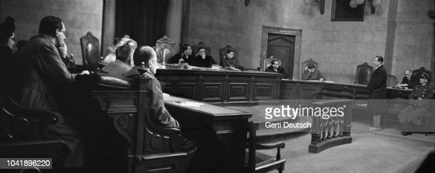 Austrian actor Otto Hartmann at the People's Court in Vienna where he is on trial for treason accused of working as an informer for the Gestapo...