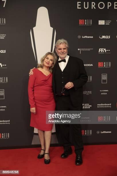 Austrian Actor Peter Simonischek and his wife Brigitte attend the 30th European Film Awards in Berlin Germany on December 9 2017