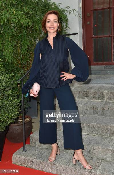 Austrian actress Aglaia Szyszkowitz during the Bavaria Film reception during the Munich Film Festival 2018 at Kuenstlerhaus am Lenbachplatz on July 3...