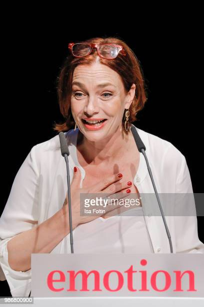 Austrian actress Aglaia Szyszkowitz during the Emotion Award at Curio Haus on June 28 2018 in Hamburg Germany