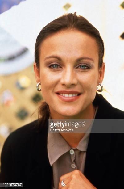 Austrian actress and dubbing actress Sonja Kirchberger, circa 1990.